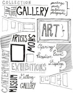 art gallery doodles