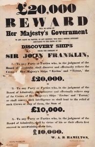Franklin Voyage reward poster